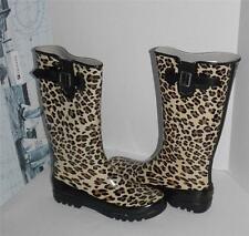 Sperry Pelican Tan Leopard Rain Boots Left 10 Right 9 Mix-Mates