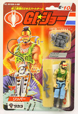 "GI JOE ARAH VINTAGE TAKARA 1986 RIPPER 3 3/4"" ACTION FIGURE CARDED"