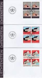 Liechtenstein 2009 FDC 1536-1538 blok - Diverse Huizen