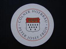 COLNER HOFBRAU PETER JOSEF FRAU KOLSCH COASTER