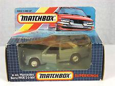 1990 Matchbox Super Kings K115 Mercedes Benz 190e 2-3 16V Detail Diecast Car NIB