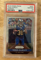 2015 Panini Prizm Todd Gurley Running PSA 10 Gem Mint RC Rookie Falcons Rams 291