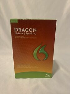 New Sealed Nuance Dragon NaturallySpeaking 12.0 Home-English-(Headset included)