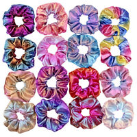 10PCS New Shiny Velvet Hair Scrunchies Ponytail Holder Elastic Hair Ties Bands