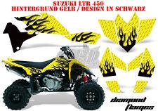 Amr racing décor Graphic Kit ATV suzuki ltr 450 Lt-r Diamond Flames B