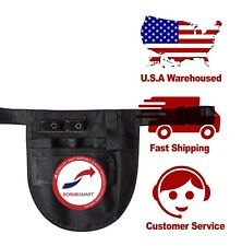 New Nurse Small Nylon Apron Medical Pocket Organizer Belt - Black Us Seller