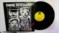 "DAVID ROSTAMO - Culture Vulture PROMO 12"" Synth Pop New Wave Dance Electro"