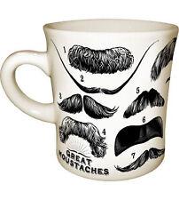 0652 Great Moustaches Mug Coffee Cup Tea Celebrity Groucho Twain Poe Men Barber