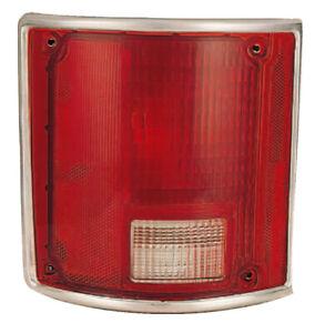 Tail Light Lens for 78-91 Chevy/GMC Blazer/Suburban (w/Chrome) Left Driver