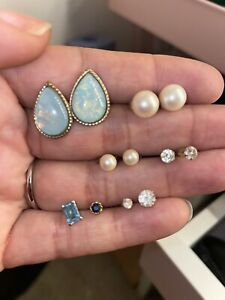 Lot Of 9ct Gold Earrings 4.8g Some Odd