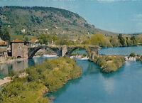 BRIVES-CHARENSAC près du PUY-EN-VELAY le vieux pont sur la loire timbrée 1986