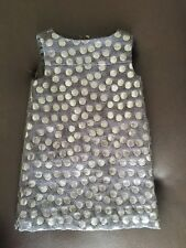 J.crew Crewcuts Girls Metallic Jacquard A line Holiday Party Dress size 2