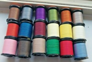 18  New Spools Fly Tying  Uni Thread  For Hooks Material Supplies