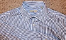 Burberry London Blue Striped Dress Shirt Men's Size 17R