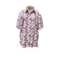 Ricki Renee Womens Multicoloured Floral Button Shirt Blouse Top 10 Short Sleeve