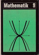 Mathematik Klasse 9 Volk und Wissen DDR-Lehrbuch 1971