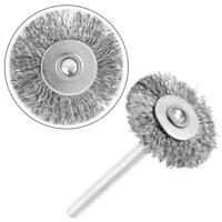10Pcs 25mm Stainless Steel Wire Brush Polishing Wheel for Grinder Rotary Tool
