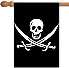 Toland Calico Jack's Jolly Roger 28 x 40 Pirate Sword Skull Black House Flag