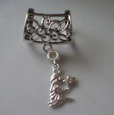 Virgo Scarf Bail Ring Zodiac Astrology Silver Coloured + Free Gift Bag