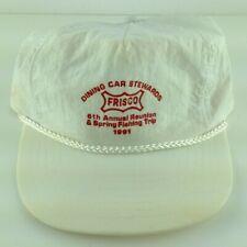 Frisco Railroad Dining Car Stewards Fishing Trip 1991 White Adjustable Cap Hat