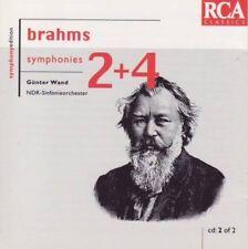 Brahms - Symphonies 2 + 4 (Günter Wand) CD