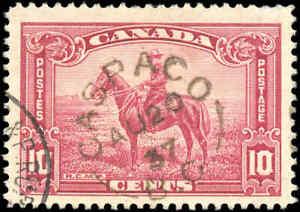 1935 Used Canada F+ Scott #223 10c CASPACO, BC King George Pictorial Stamp