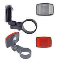 Bike Reflective Front Rear Warning Light Safety Bicycle Handlebar Reflector New