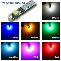10X Car Auto T5 Gauge Dashboard Wedge Light LED Bulb Indicator 3528 3 Lamp W9L7