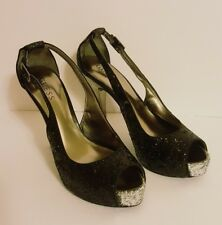 Women's Sexy GUESS Stilettos Heels Black Multi Texture ~  9M
