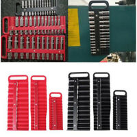 1/2 3/8 1/4 Inch Socket Rails Set Mix Combination Holder Tool Storage Tray