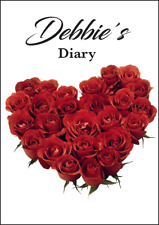 2018-2019 diary personalised with your name red rose heart A5