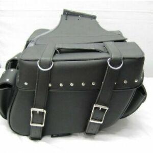 Motorbike Motorcycle Leather Luggage Bag Saddle Bag For Storage Pannier