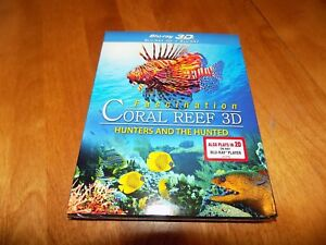FASCINATION CORAL REEF 3D HUNTERS AND THE HUNTED Reefs 3D + BLU-RAY DISC NEW