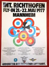 International Richthofen Fly-In Airshow 1977 Red Roter Baron Aviation Poster