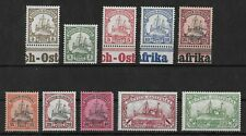 GERMAN EAST AFRICA 1901 Mint Hinged Set of 10 Stamps Michel #11-20
