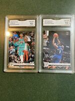 2019-20 Panini ZION WILLIAMSON & Ja Morant ROOKIE GMA 10 Gem Mint Set Rc Sgc Bgs
