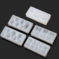 5Pcs 3D Silicone Molds Nail Art Decor Moon Star Shell Strawberry Bow Lips Molds