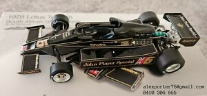 1/18 TSM 1978 LOTUS 78 RONNIE PETERSON SOUTH AFRICAN GP WINNER TOBACCO DECALS