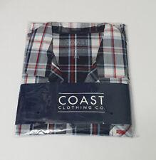 BNWT Mens Sz 3XL Coast Clothing Co Navy Red Check Long Summer Pyjamas RRP $60