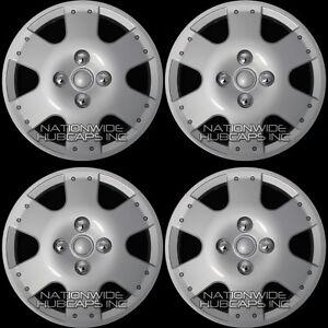 "14"" Set of 4 Hubcaps Wheel Covers Snap On Full Hub Caps fit R14 Tire & Steel Rim"