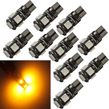 10 * Yellow amber T10 5SMD-type LED W5W 168 921 194 Canbus Error Free Wedge bulb