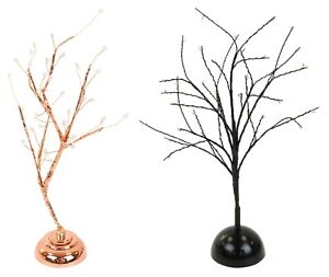 32 LED Christmas Tree Light Up Black Rose Gold Twig Tree Easter Home Decorations