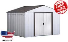 Arrow Galvanized Steel Storage Shed 10ft x 8ft
