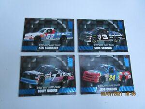 1995 PRESS PASS NASCAR SUPERTRUCKS - 4 CARDS