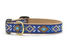 "Dog Puppy Designer Up Country Aztec Blue Collar Adjustable Small 1"" Wide USA"