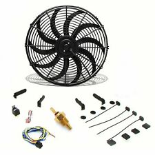 "Super Cool Pack 16"" S Blade Fan, Fixed Temp Switch, Harness, Bracket rat"