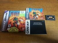 Doom (Nintendo Game Boy Advance, 2001) Complete (CIB) (Tested)