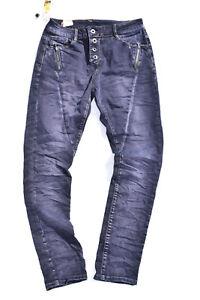 Zac&Zoe Damen Jeans Boyfriend Baggy blau dunkelblau Hose Stretch 253 Sommer