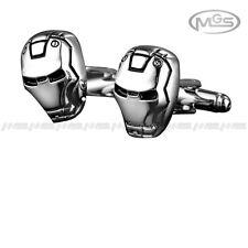 Men's Cufflinks 3D Iron Man The Avengers Marvel Comics Black Silver Shirt Gift