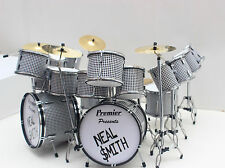 NEAL SMITH ALICE COOPER DRUM SET DRUM KIT MINIATURE FOR DISPLAY ONLY